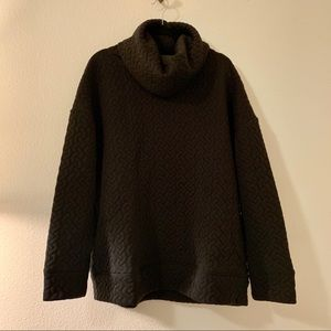 Gap FIT Cowl Neck Quilted Sweatshirt